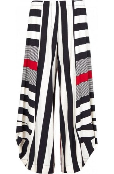 Bold Striped Wide Leg Culottes