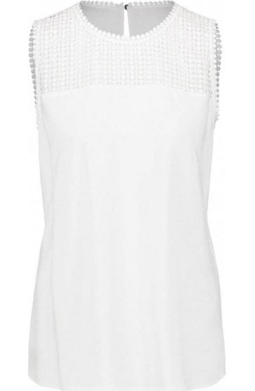 Off White Lace Detailed Blouse