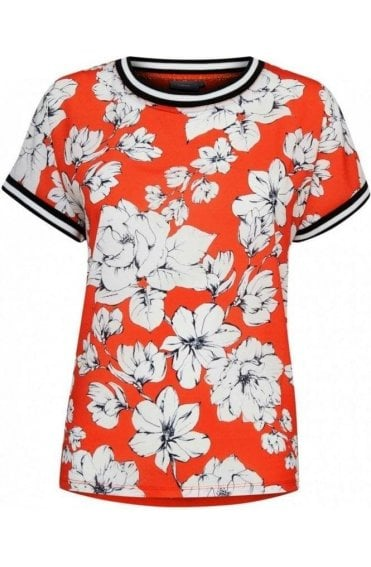 Spiced Red Floral Top