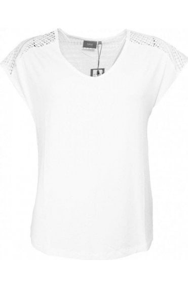 Off White Crocheted Detailed Top