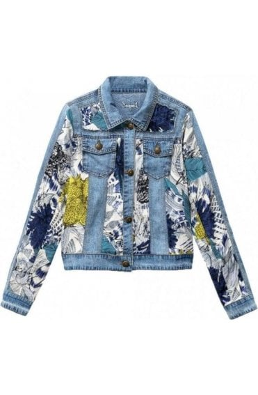 Denim Jacket With Viscose Gisela