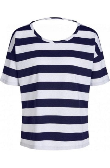 Contrasting Striped Jersey Top