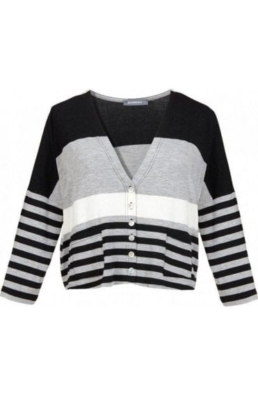 Striped Jersey Cardigan