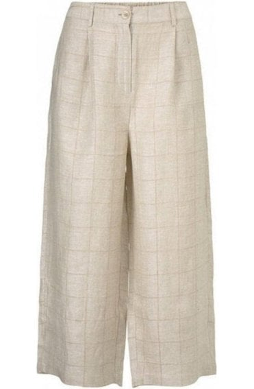 Payta Woven Linen Culottes