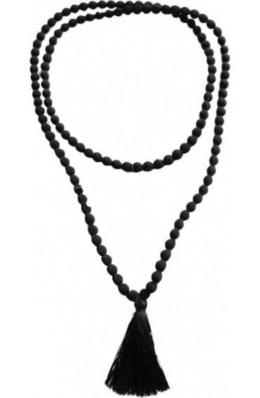Ariel Black Beaded Necklace