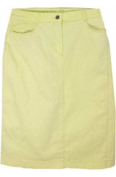 Citron Denim Skirt