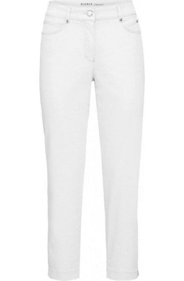 White Cropped Trousers