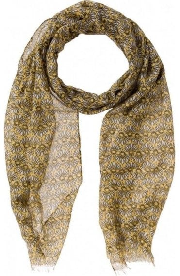 Yellow Patterned Scarf