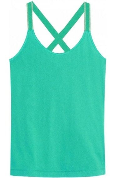 Green Cross Back Vest Top