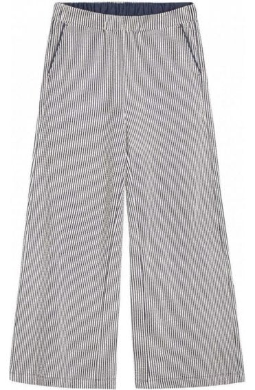 Textured Jersey Striped Trousers