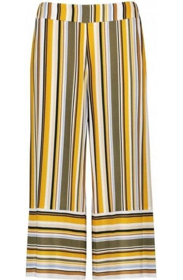 Wide Leg Striped Culottes