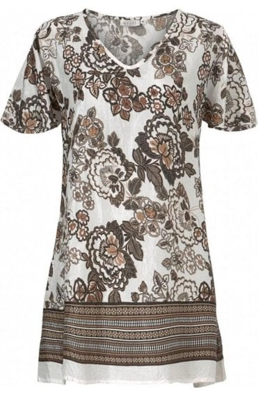 Situssa Sand Floral Tunic