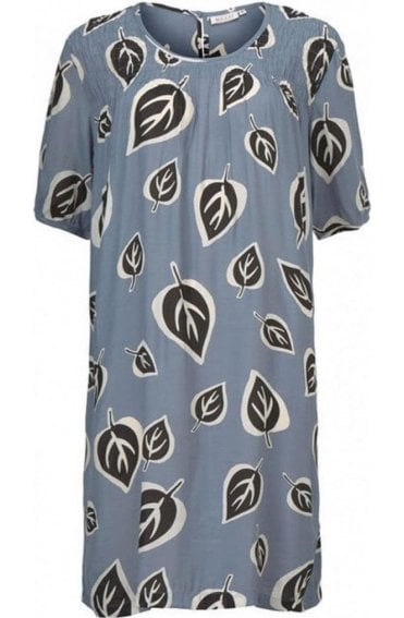 Naomi Bold Leaf Print Dress