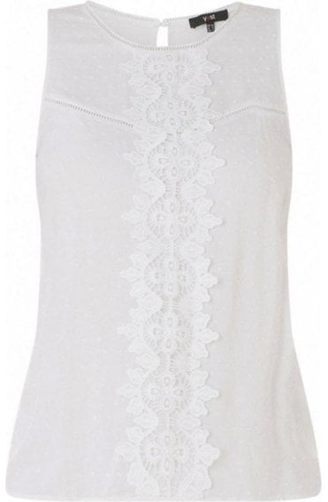 Lace Detailed Sleeveless Blouse