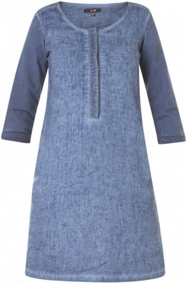 Soft Blue Shift Dress
