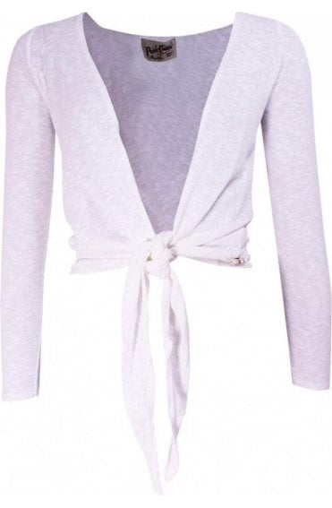 Rappy Daisy White Tie Cardigan