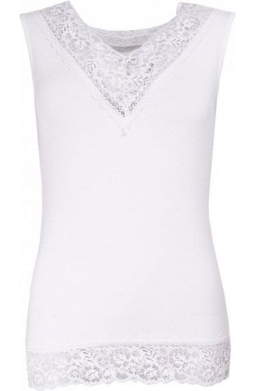 Angel Daisy White Lace Top