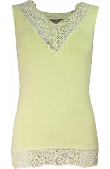 Angel Green Lace Detailed Top