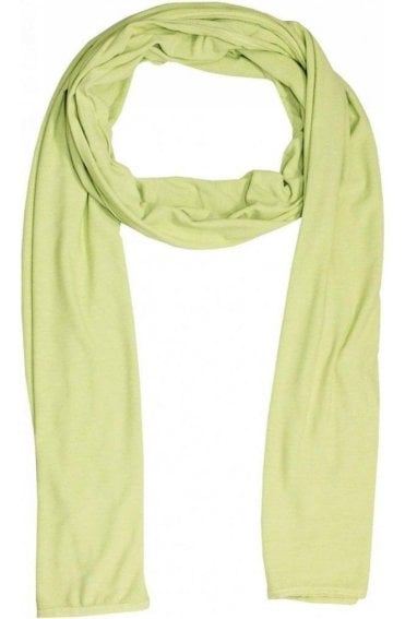 Plain Leaf Green Jersey Scarf