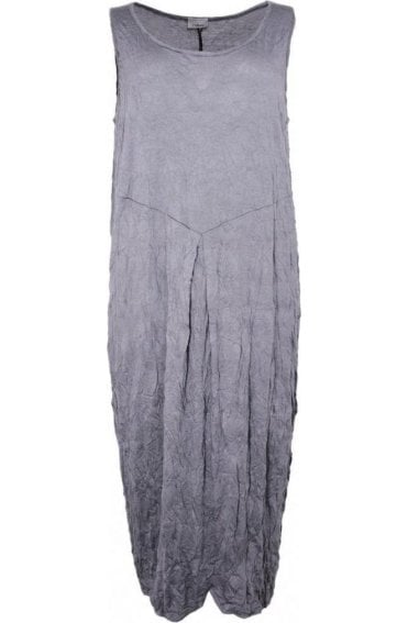 Grey Crinkle Jersey Dress
