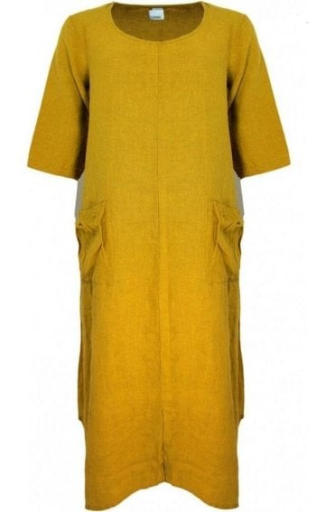 Saffron Linen Dress