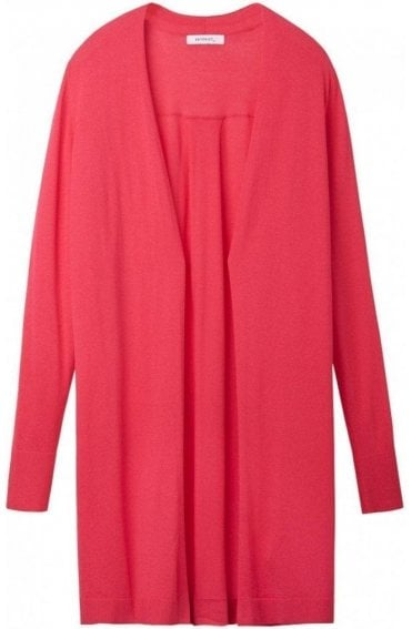 Fuchsia Long Line Cardigan