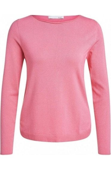 Pink Fine Knit Jumper