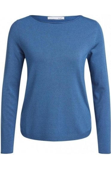 Blue Fine Knit Jumper