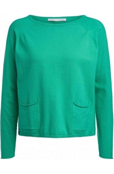 Holly Green Fine Knit Jumper