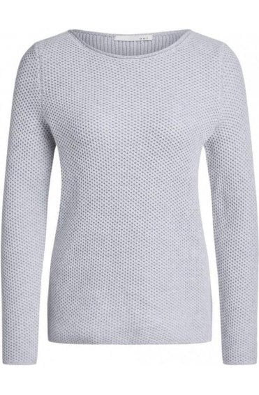 Light Grey Woven Knit Jumper