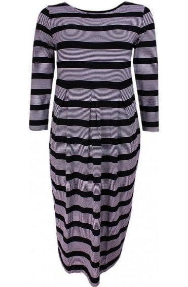Nicky Black & White Stripe Dress