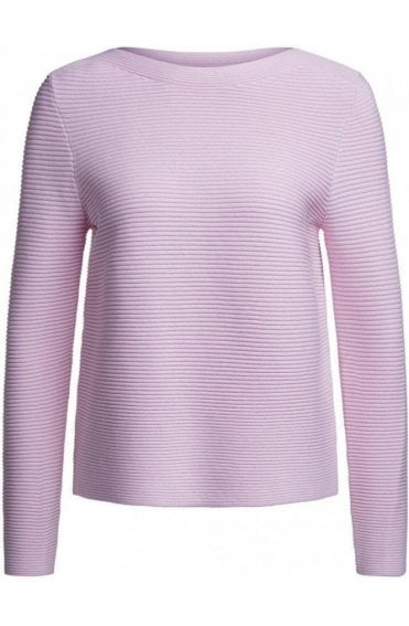 Pale Pink Ribbed Knit Jumper