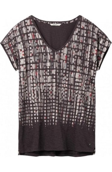 Grey Patterned Jersey T-Shirt