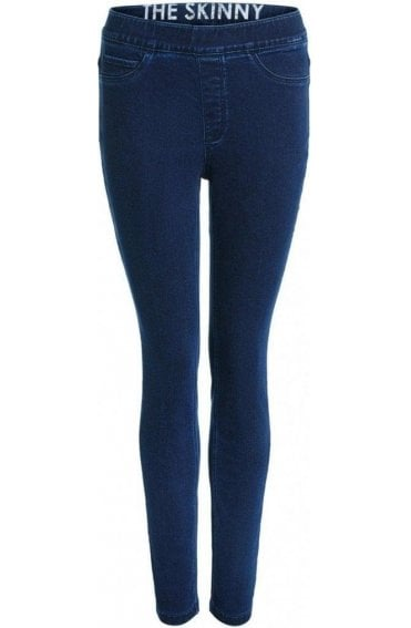 Raw Denim Skinny Jeggings