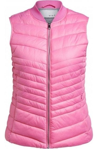 Pink Quilted Waistcoat