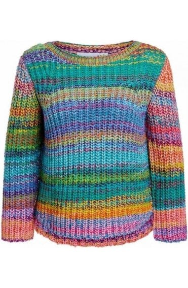 Multi Coloured Chunky Knit Jumper