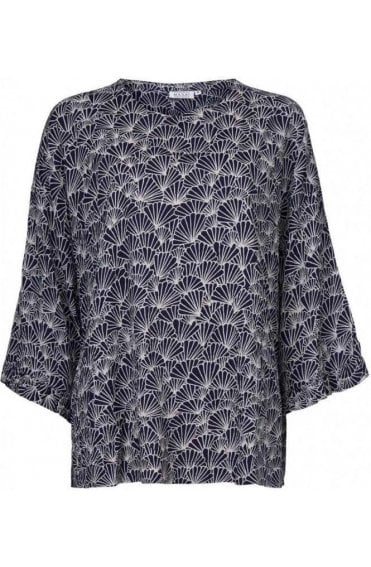 Barna Over Sized Shell Print Top