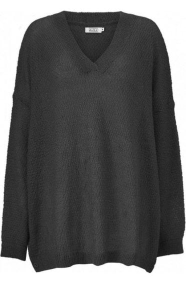 Fona Over sized Black Knit Jumper