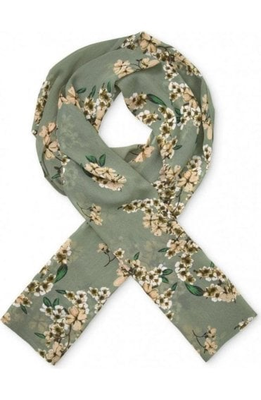 Along Floral Sea Spray Scarf