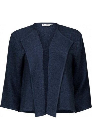 Julitta Navy Woven Knit Jacket