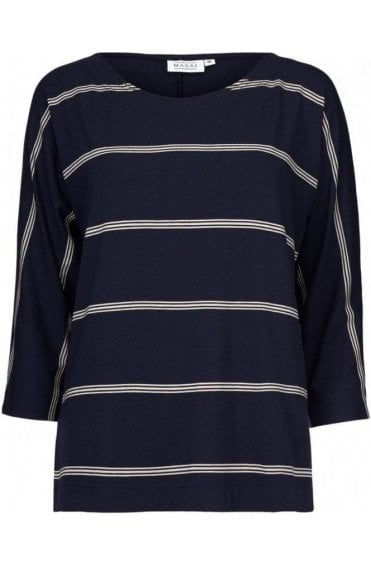 Bluma Navy Striped Top
