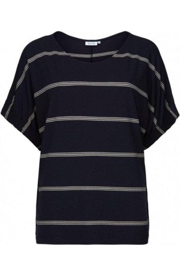 Delia Navy Striped Top