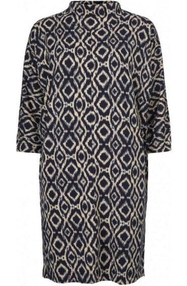 Glussi Navy & Cream Patterned Tunic