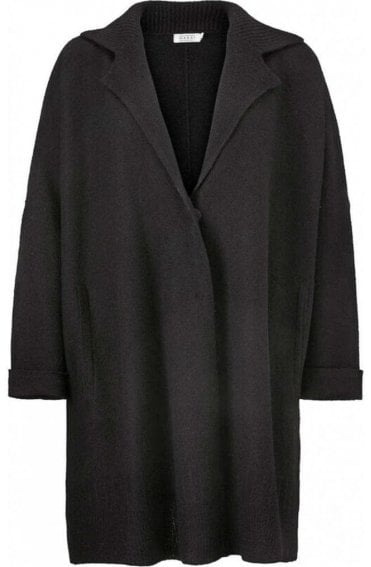 Loraine Merino Wool Black Cardigan
