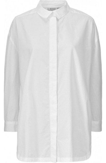 Inessa White Cotton Blouse