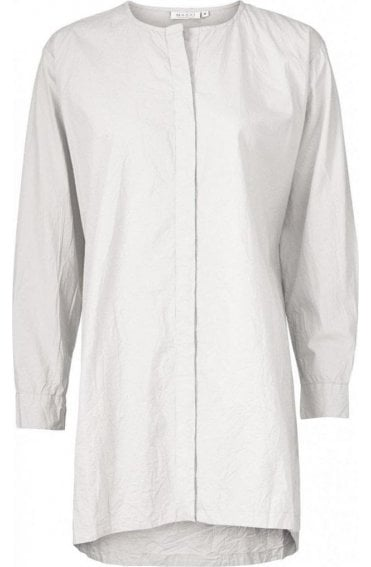 Imam White Cotton Blouse