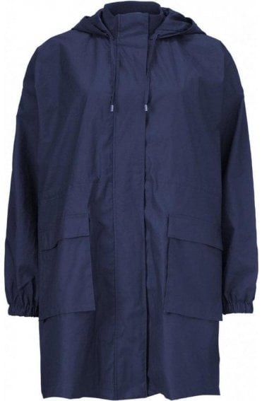 Tian Oversized Navy Waterproof Coat