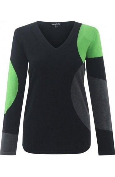 Black & Green Jumper