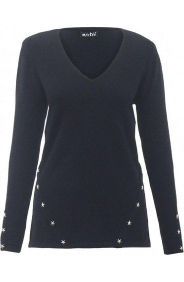 Black Star Detailed Jumper