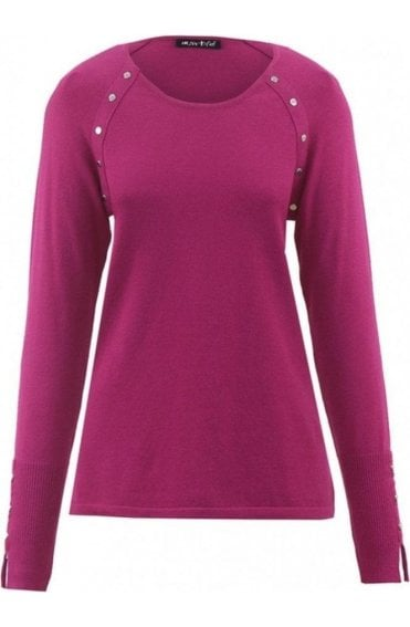 Berry Pink Fine Knit Jumper
